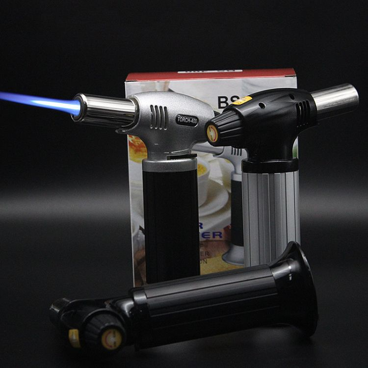 BS4号直冲防风喷枪打火机 BS-400焊枪打火机 户外烧烤用品1300℃