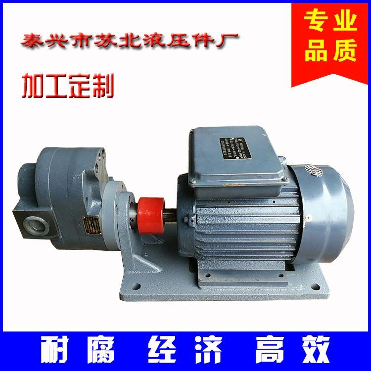 厂家供应 大流量液压油泵 单项电容式油泵电机装置电动齿轮油泵