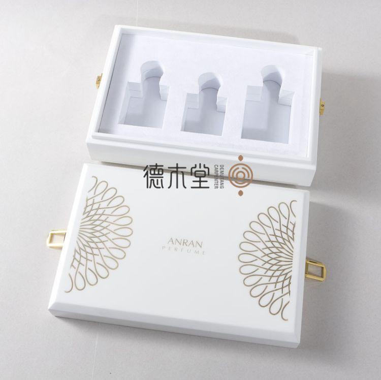 高档木制精油喷漆木盒 精油木盒包装 品牌精油木质收纳盒定做