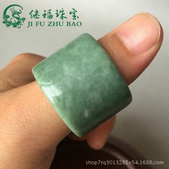 厂家直销正品天然贵州翠 翠色玉扳指戒指贵州翠扳指玉指环玉戒指