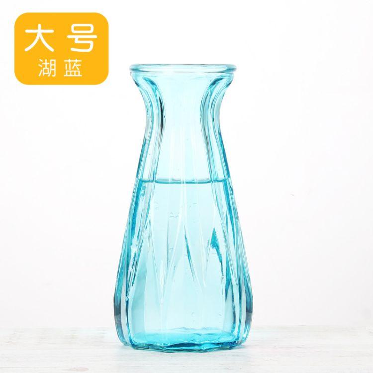 厂家供应各种喷色玻璃瓶子玻璃花瓶喷色灯泡瓶风信子玻璃瓶插花瓶