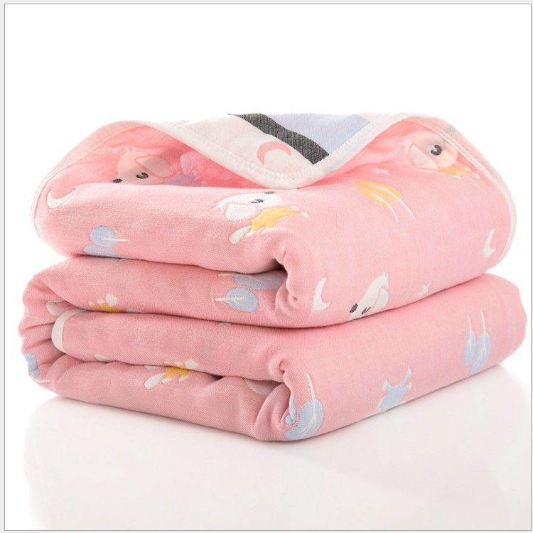 110*110cm纯棉六层纱布儿童毛巾被宝宝纱布浴巾婴儿盖毯抱被批发