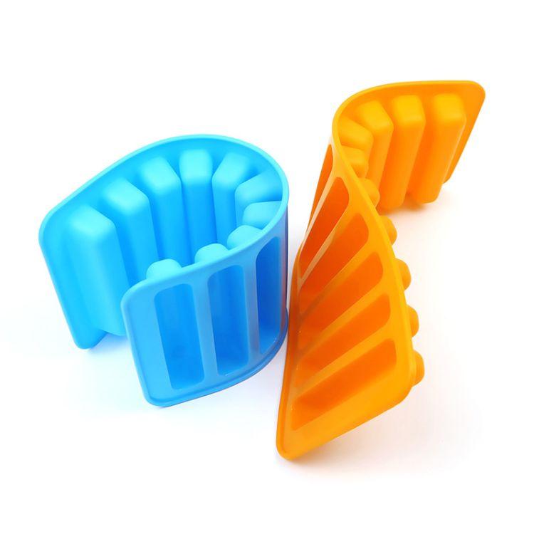 厂家定制10格硅胶冰格 长条形硅胶制冰器冰格 硅胶冰模模具制冰器