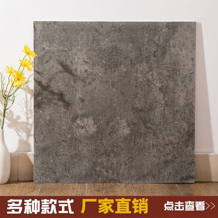 佛山瓷砖 现代简约仿古砖 客厅卧室水泥砖 灰色工业风地砖600*600