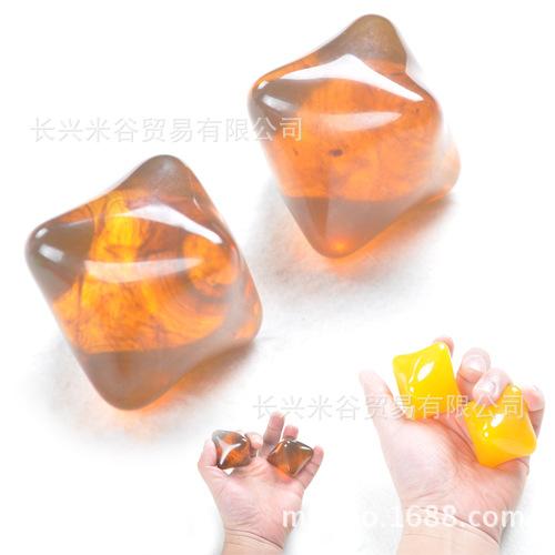 六角握力球把玩球康复握力器休闲手指球六角按摩球老人球指力球球