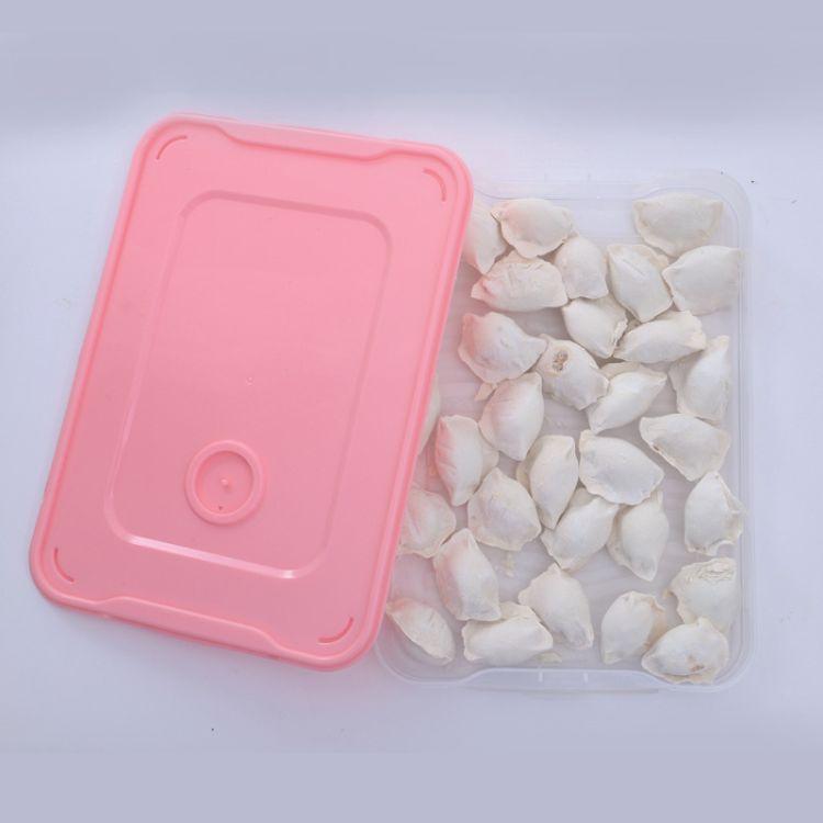 厂家直销速冻爆款家用饺子盒冰箱保鲜专用收纳盒多层冷冻馄饨盒子
