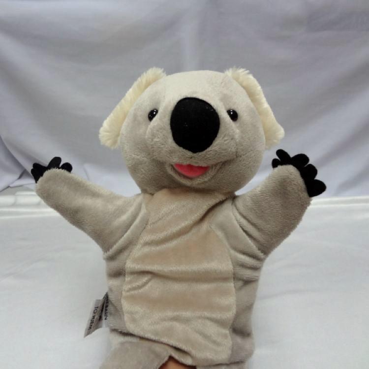 厂家定制毛绒玩具手偶  定制logo考拉卡通手偶   儿童益智玩具