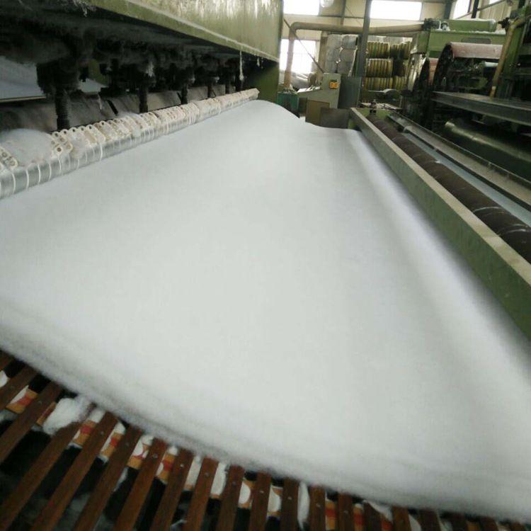 白色土工布 短丝土工布  抗养护短丝土工布 水利工程土工布 堤坝土工布 反滤排水土工布