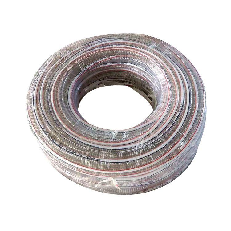 厂家供应  PVC透明钢丝排风管 PVC透明钢丝管批发