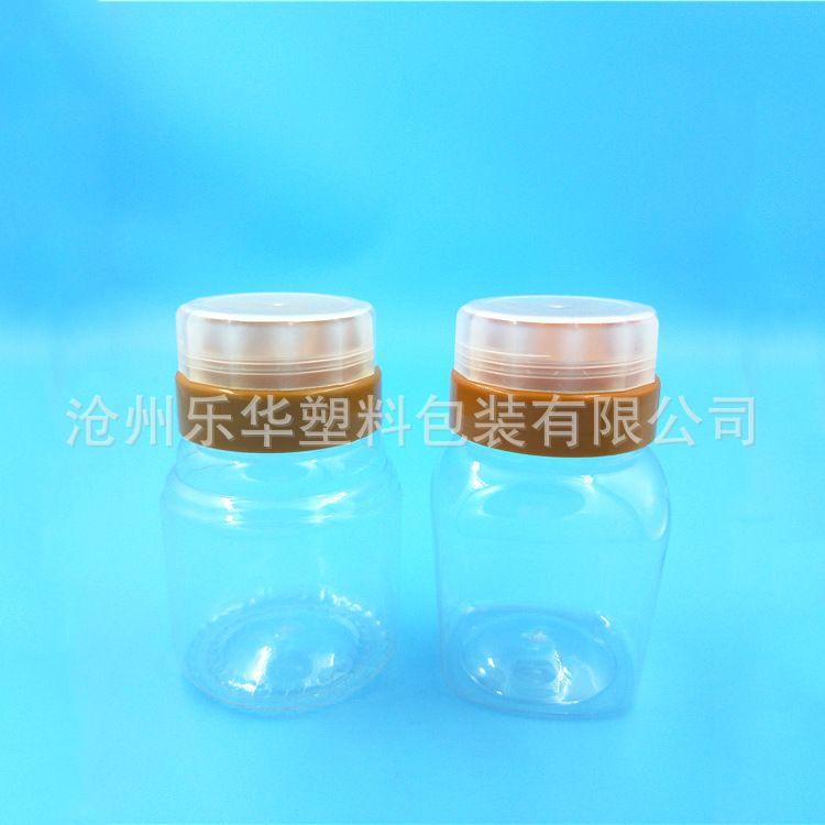 直筒广口圆形包装罐 蜂蜜密封塑料瓶罐 规格齐全蜂蜜塑料瓶罐