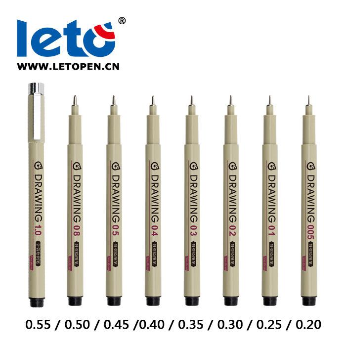 Leto 绘图笔 高达模型 勾线笔 素描 漫画 动漫笔 设计绘图笔