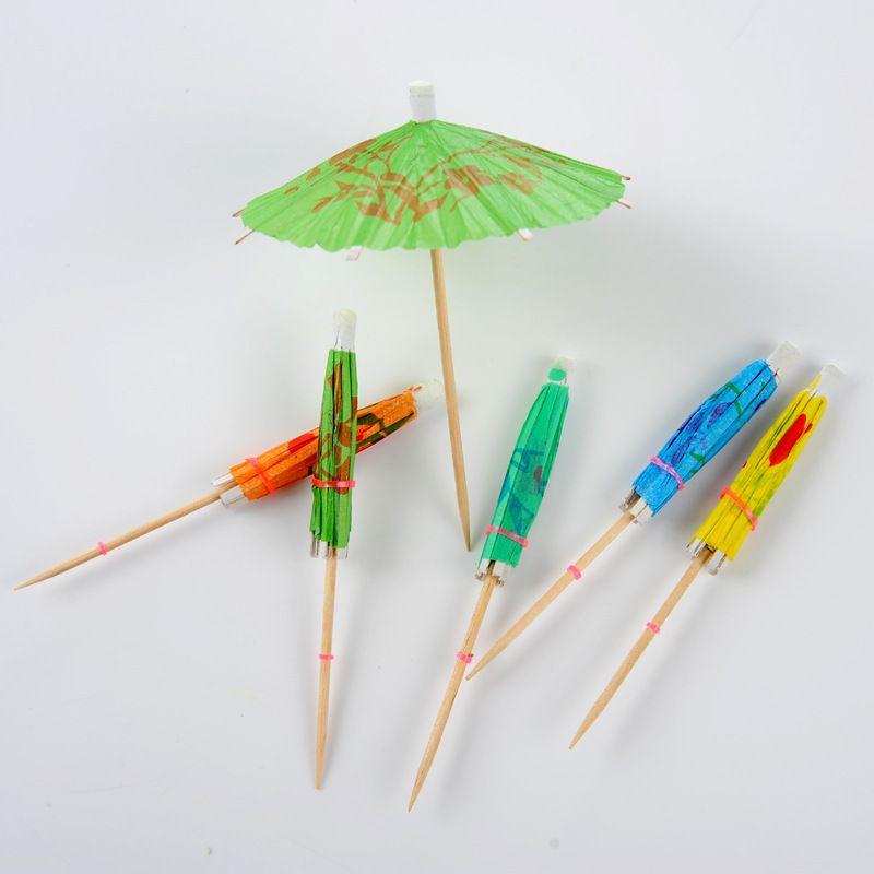 小纸伞签批发 鸡尾酒小纸伞蛋糕装饰花纸伞水果雨伞酒签