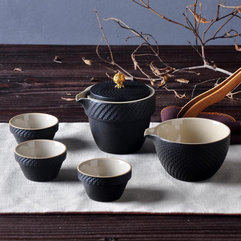 厂家批发 旅行茶具 陶瓷茶具套装 高档茶具 功夫茶具 可加logo