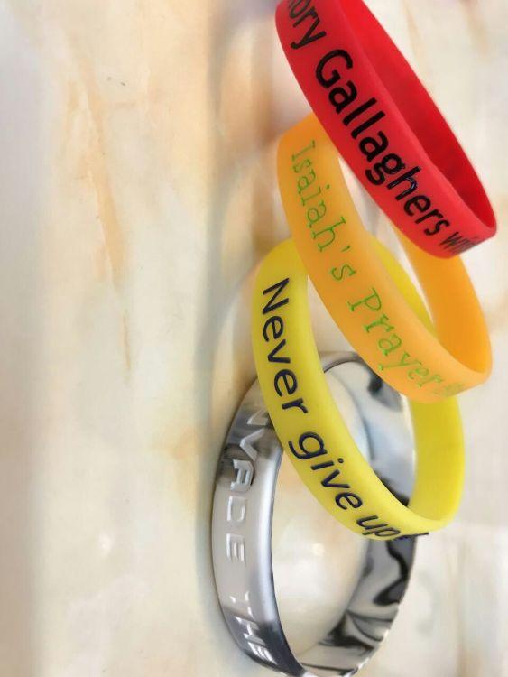 橡胶手环 橡胶手链 橡胶手镯 硅胶手镯 凹字手镯 印刷手镯 手镯