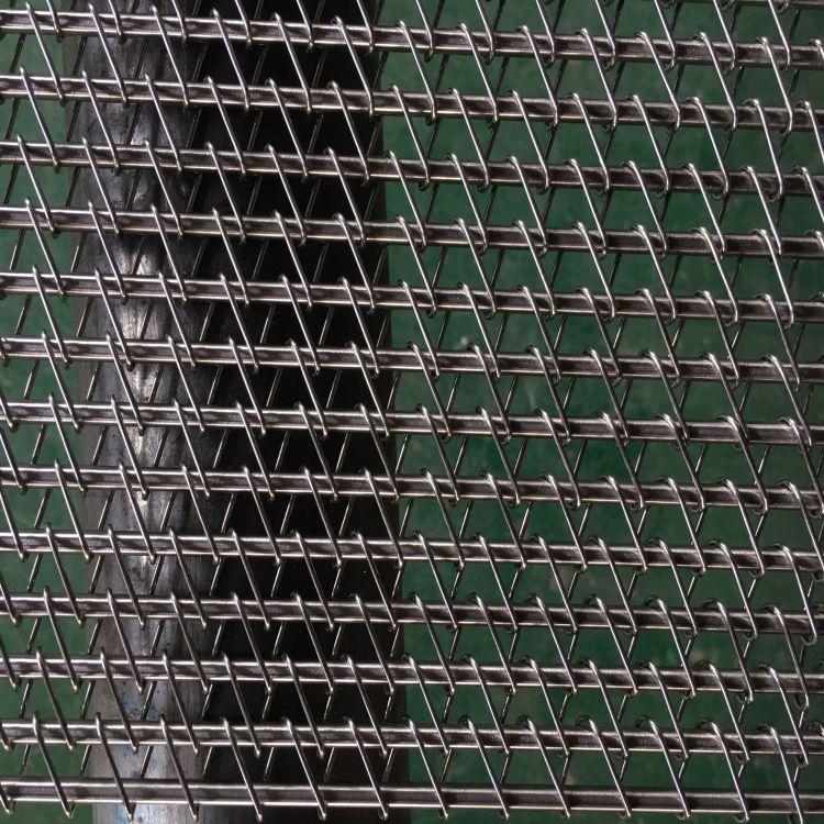 果蔬脱水清洗输送链网304不锈钢超声波清洗用食品用单旋螺旋网带