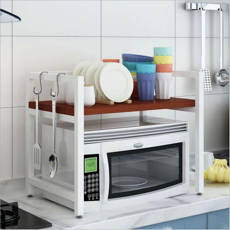 微波炉架子厨房收纳用品1层收纳架烤箱架单层微波炉厨房批发