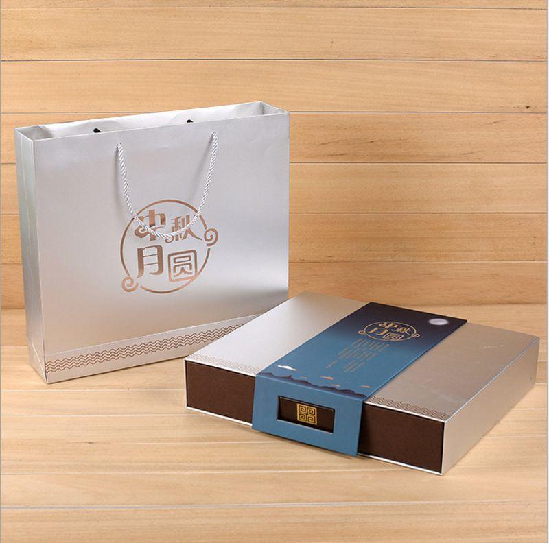 8粒装中秋月饼盒批发高档月饼包装盒定制精美商务月饼礼盒定做