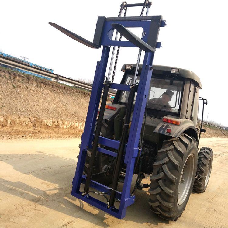 定制改装拖拉机叉车 拖拉机装载机 拖拉机后置叉车现货供应