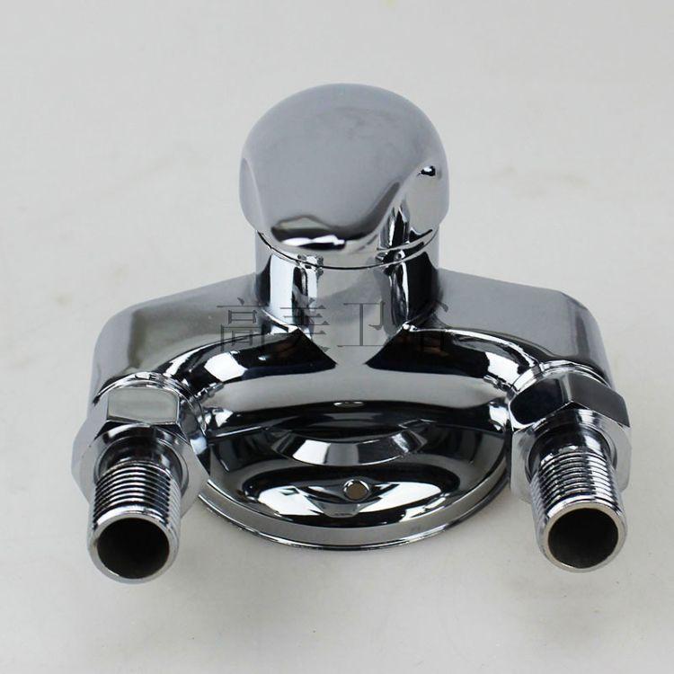 厂家直销 卫浴全铜冷热混水淋浴龙头热销明装三角家装淋浴混水阀