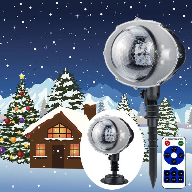 LED下雪灯 全自动造雪效果灯 舞台效果灯 遥控造雪灯 雪花灯