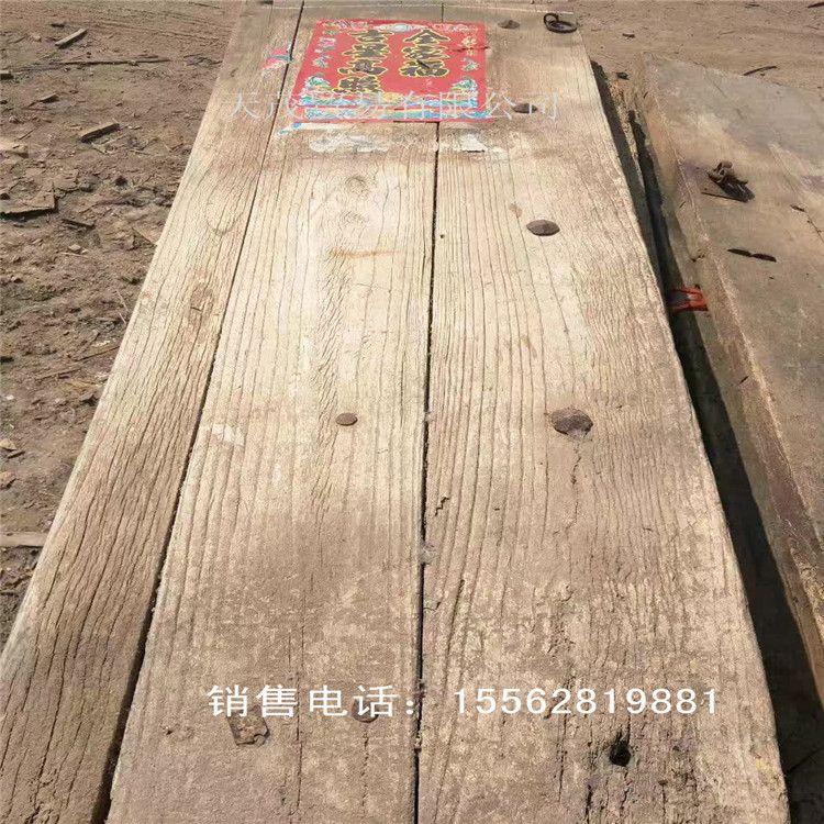 自然风化纹老榆木门板 老榆木家具 加工定做榆木原木复古家具吧台