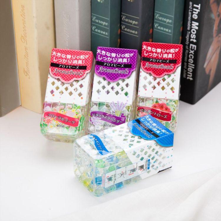 日式液体清新剂卧室卫生间除味剂鞋柜空气消臭剂固体香珠清香剂