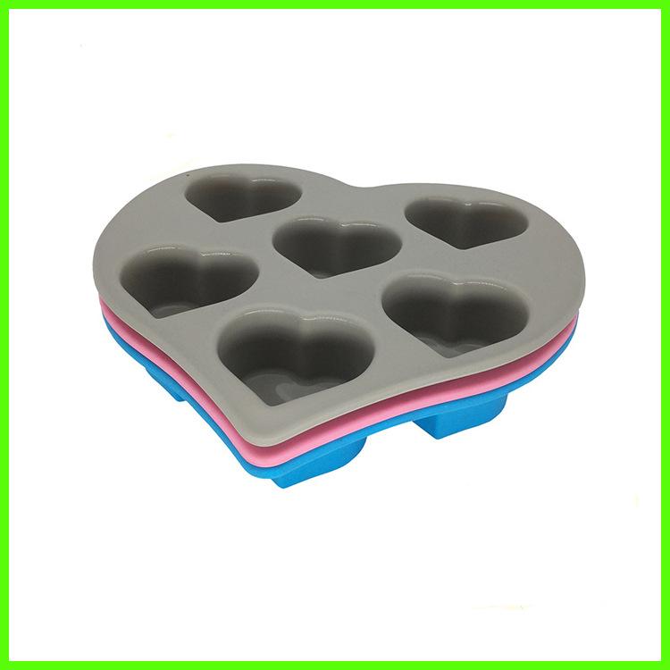 厂家批发硅胶心形蛋糕模 DIY蛋糕模硅胶 食品级硅胶心形蛋糕模具