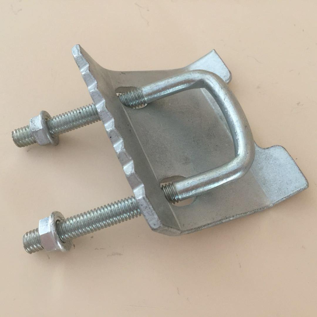 抗震支架压板 c型u型钢支吊架配件 梁夹 抗震压板 现货批发厂家