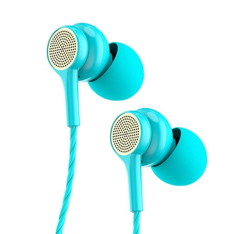 金属重低音入耳式手机耳机 线控耳麦单边K歌带麦降噪耳塞
