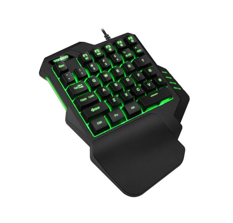 单手键盘七彩背光机械吃鸡游戏小键盘神器手游左手键盘工厂直销