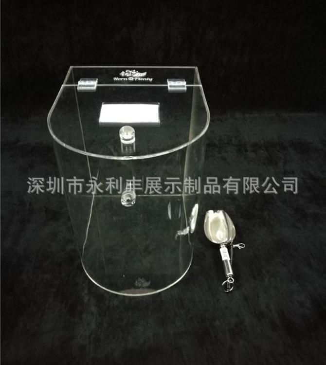 亚克力圆形盒子 食品包装盒 透明有机玻璃展示盒