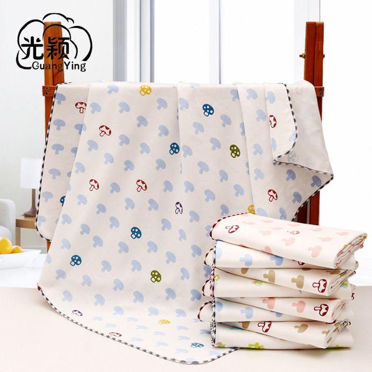 婴儿纱布浴巾医用级水洗纯棉两层纱布新生儿毛巾被儿童浴巾盖毯
