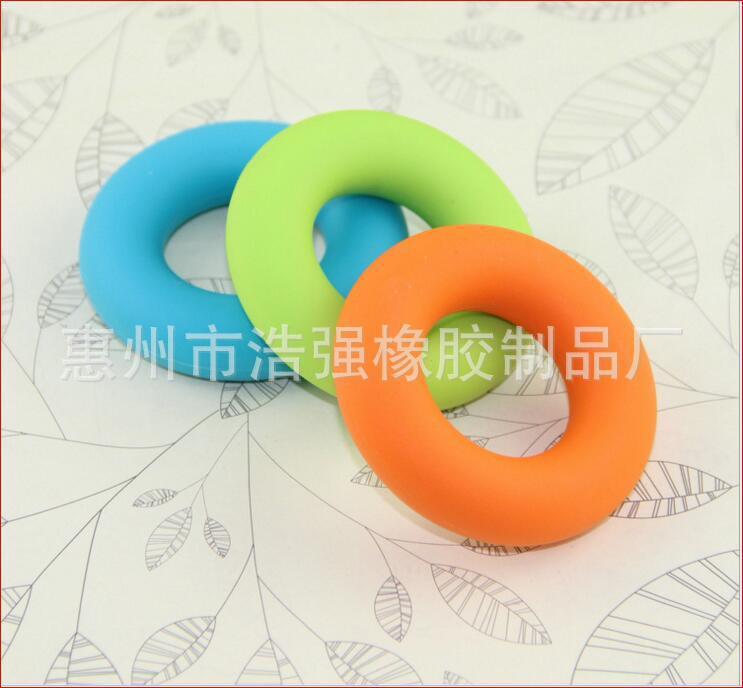 惠州市浩强厂家直销硅胶握力器 握力圈 手指训练器 缓解疲训练器