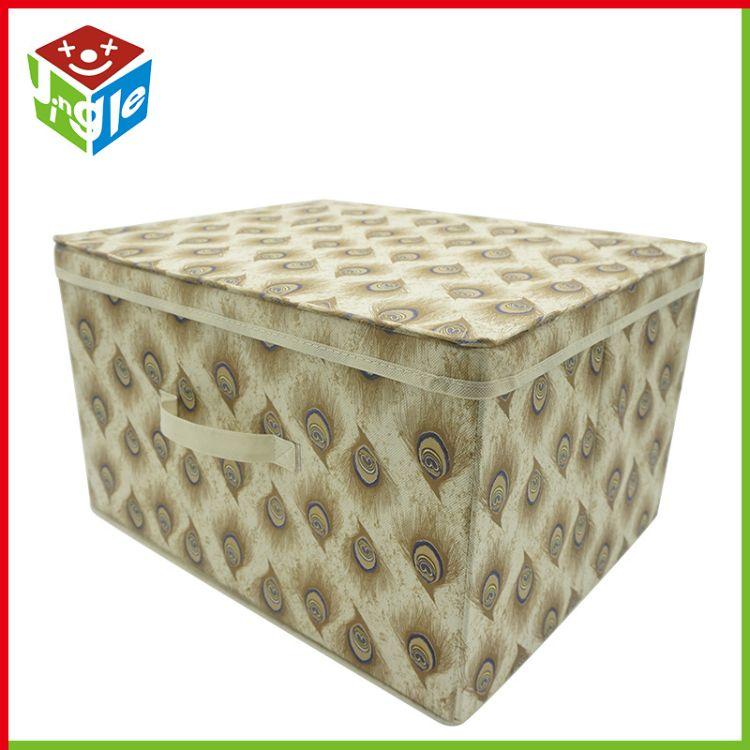 桌面整理储物箱 无纺布带盖叠加桌面杂物整理收纳整理盒