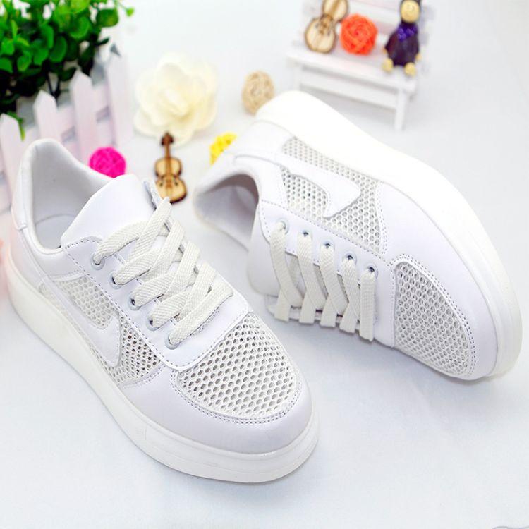 夏季新款 休闲时尚单鞋  少女鞋 松糕跟 网鞋 厂家直销一件代发
