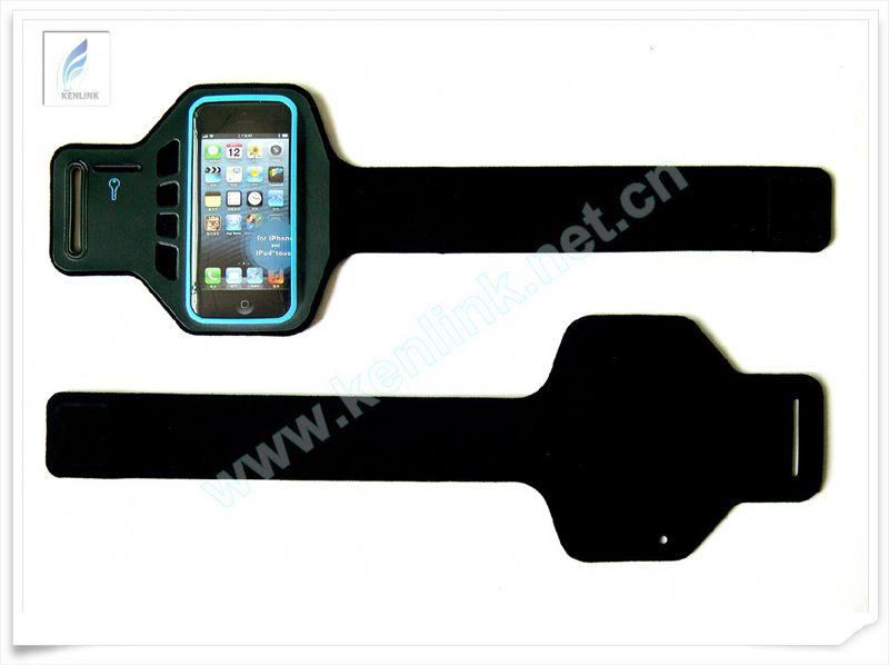 无车线电压工艺 绿色环保潜水料IPHONE5运动臂带 IPHONE5臂带