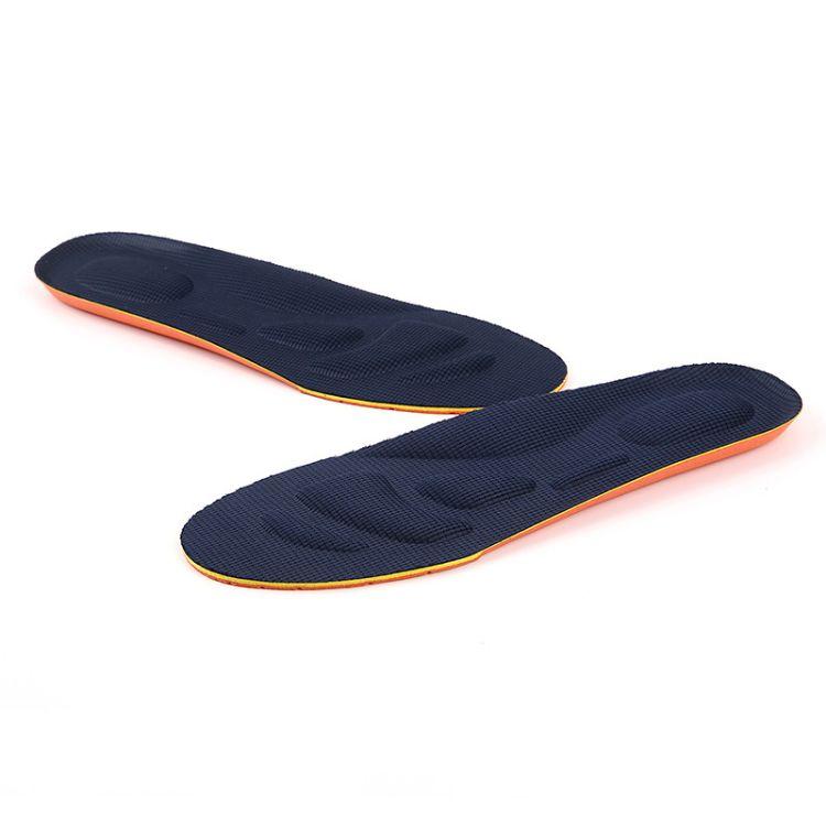 厂家直销欧斯迈运动鞋鞋垫透气减震稳型鼓包柔软鞋垫舒适防臭鞋垫