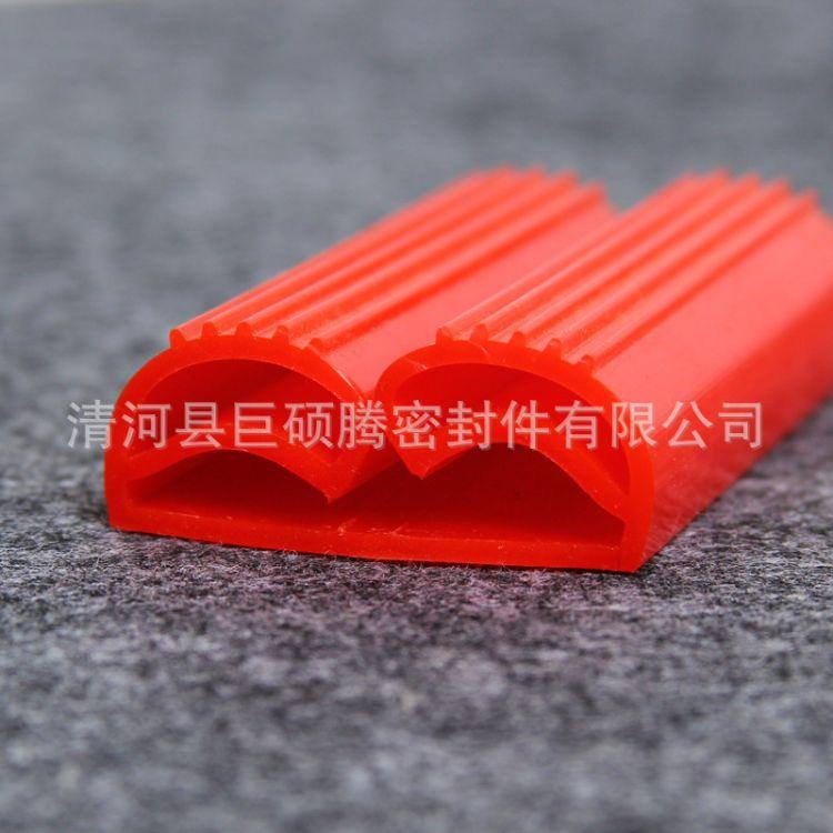 硅胶e型 双e型密封条  耐高温硅胶密封条蒸箱烤箱密封条