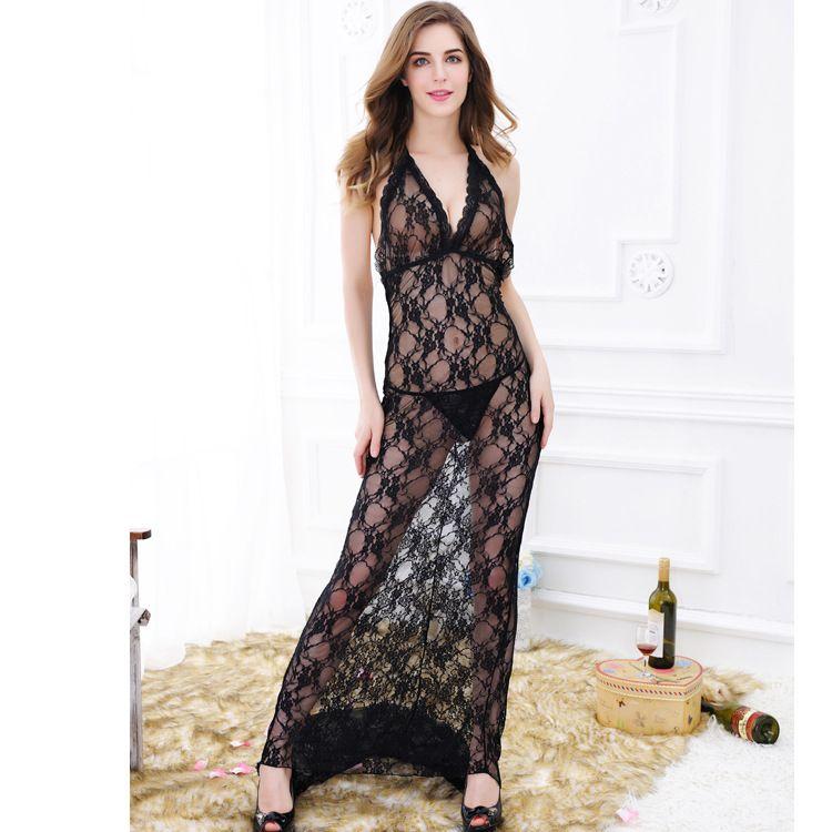 1327透视蕾丝情趣长裙 拖地长尾情趣长裙 外贸情趣长裙 情趣长裙
