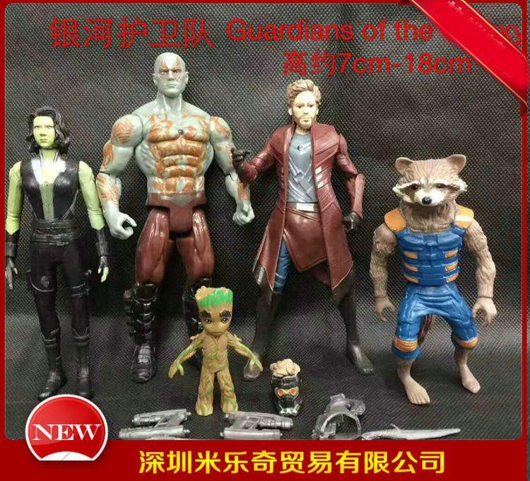 银河护卫队2手办5款星爵树人格鲁特火箭浣熊公仔微景装饰玩偶摆件