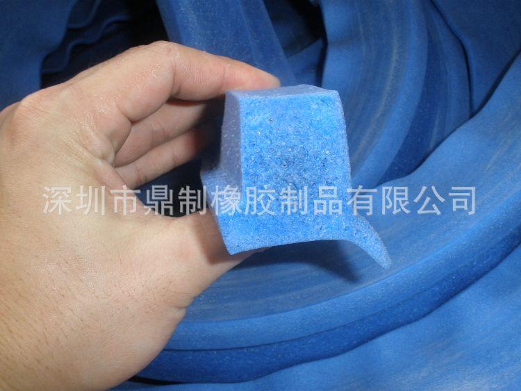 蓝色硅胶发泡条 大口径硅胶发泡管 异型硅胶发泡管 U型硅胶条