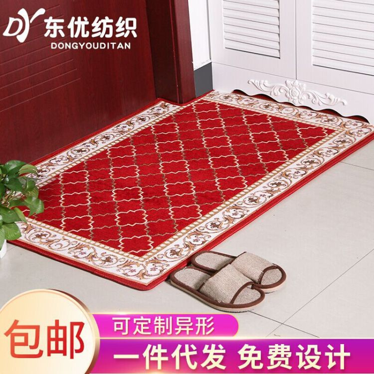 现代简约多尼尔时尚地毯  高端电脑印花卧室客厅浴室门垫