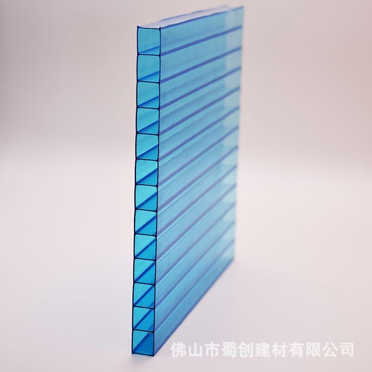 双层阳光板中空透明采光板温室大棚顶棚材料保温隔热PC板材防冻板