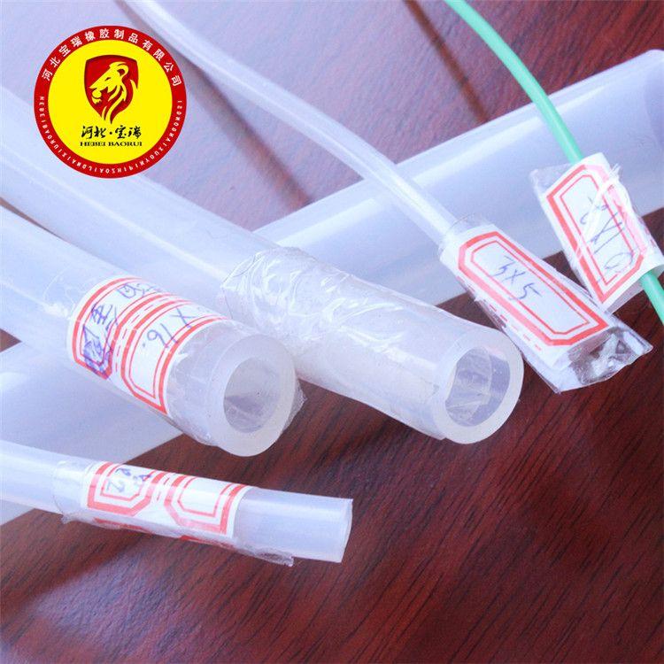硅胶管2*6国产硅胶管2mm*6mm硅橡胶管耐高温 软管半透明