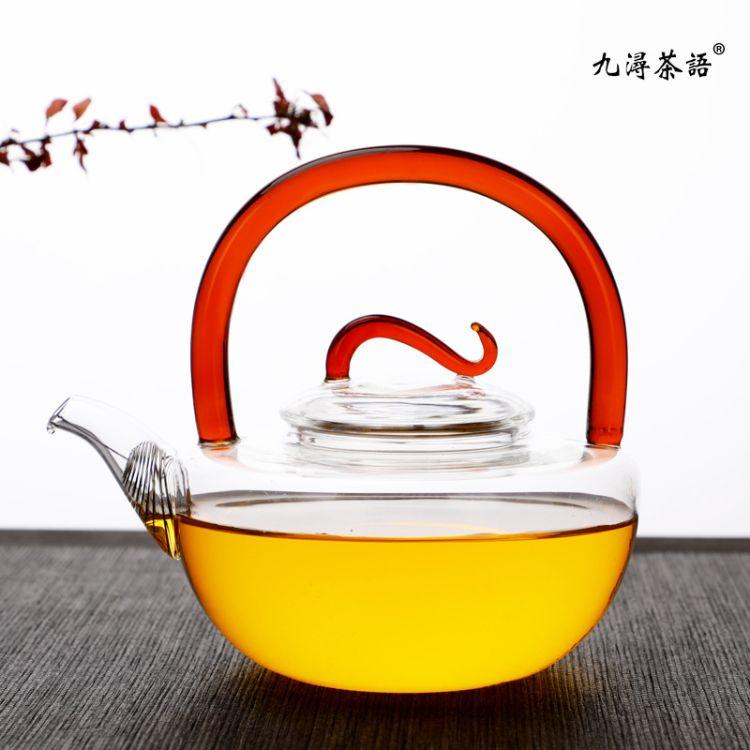 玻璃提梁壶日式加厚耐热玻璃家用电陶炉煮茶壶烧水壶过滤泡茶壶