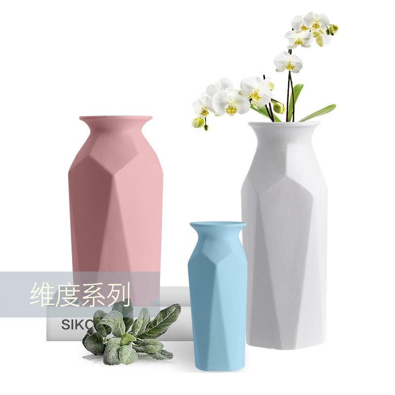 时尚简约欧式风格纬度系列陶瓷客厅卧室餐桌摆饰 陶瓷花瓶摆件