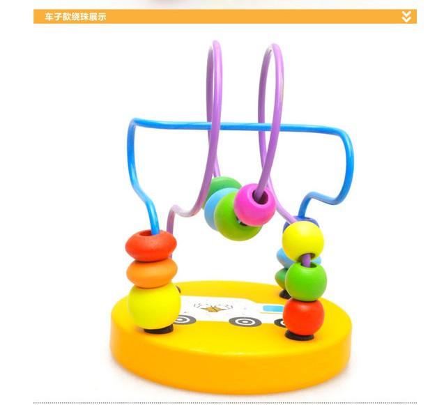 厂家直销儿童益智迷你小绕珠木制玩具 迷你木质木制小绕珠
