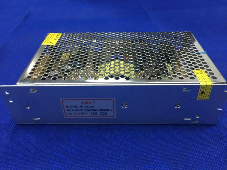 厂家直销 12V 20A稳压安防监控开关电源 多个摄像头集中供电 批发