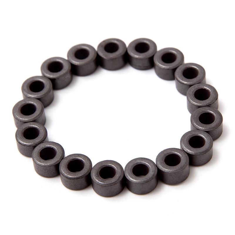 磁铁厂家现货10*4.8*6 铁氧体�\磁  圆形打孔磁铁