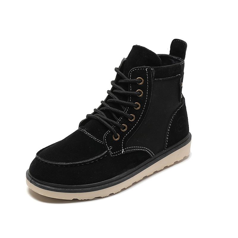 马丁靴男英伦高帮复古鞋沙漠军靴中帮秋季韩版学生工装靴作战靴子